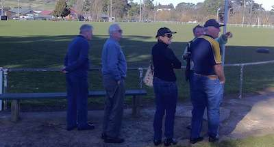 Inspecting Crookwell Oval
