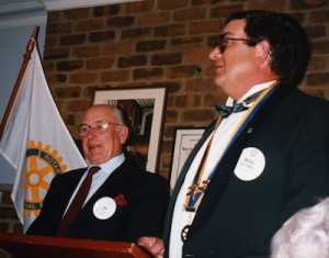 President Kingsley and Jim Rochford 1992