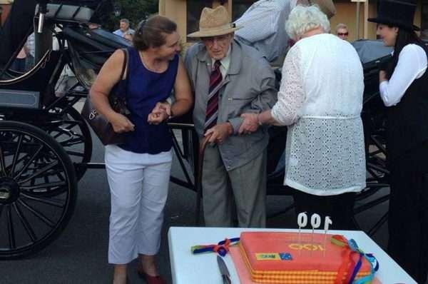 Jim Rochford celebrating his 100th birthday