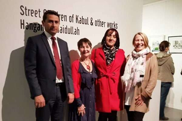 Hangama Obaidullah's art exhibition