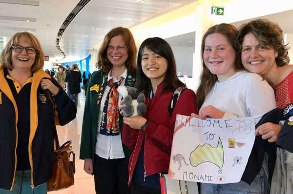 Monami Arrives from Japan