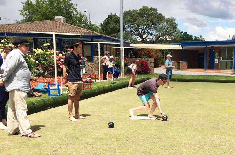 Lawn Bowls with UC Rotaractors