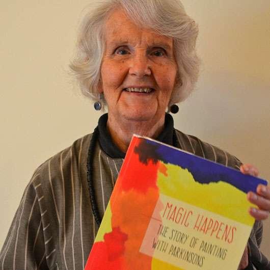 Nancy Tingey with book
