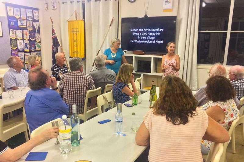 Virginia Dixon presenting