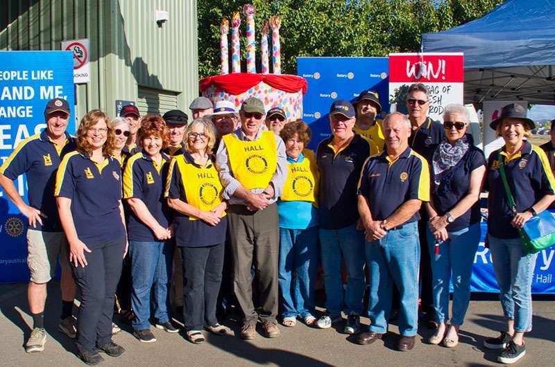 The Rotary Club of Hall team